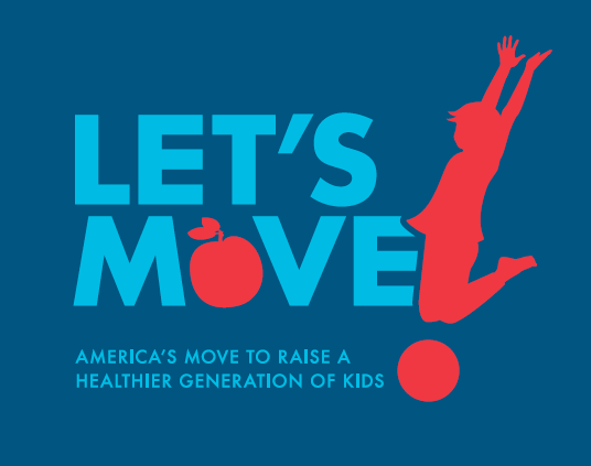Let's Move! is a comprehensive initiative, launched by the First Lady, dedicated to solving the problem of obesity plaguing today' generation. Combining comprehensive strategies with common sense, the focus of the program is to ensure that children will grow up healthier, teach them at an early age about practicing healthy eating habits and instilling in them the importance of exercise for a healthy future.